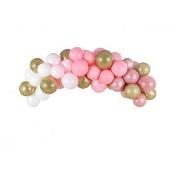 Ballonguirlande - Pink sæt 2 meter
