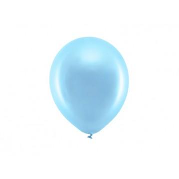 """10 stk Metallic blå balloner - str 9"""""""