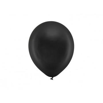 "10 stk Metallic sort balloner - str 9"""