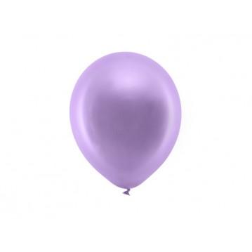 "10 stk Metallic lilla balloner - str 9"""