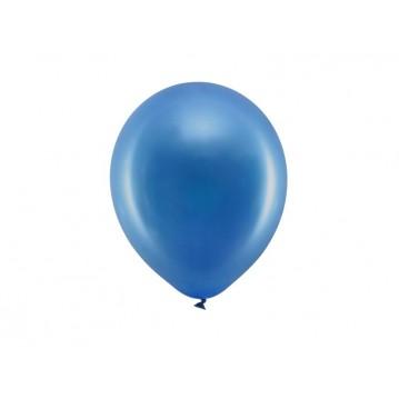 """10 stk Metallic royal blå balloner - str 9"""""""