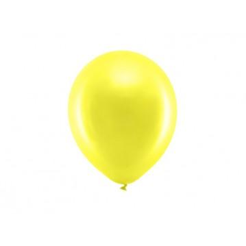"10 stk Perle gul balloner - str 9"""