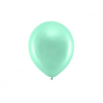 "10 stk Perle mintgrøn balloner - str 9"""