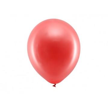 "10 stk Metallic rød balloner - str 12"""