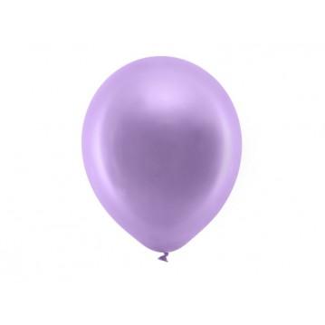"10 stk Metallic lilla balloner - str 12"""