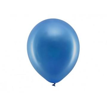 """10 stk Metallic royal blå balloner - str 12"""""""