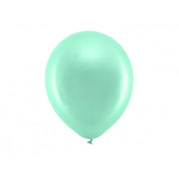 "10 stk Perle mintgrøn balloner - str 12"""