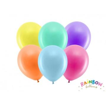 """10 stk Standard mix farvet balloner - str 9"""""""