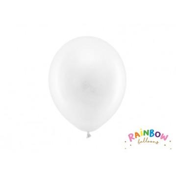 "10 stk Standard hvid balloner - str 9"""