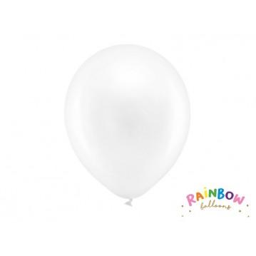 "10 stk Perle hvid balloner - str 12"""