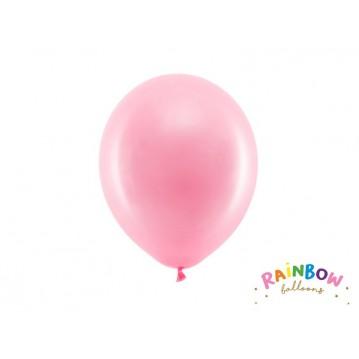 "10 stk Standard lyserød balloner - str 9"""