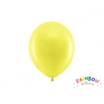 "10 stk Standard gul balloner - str 9"""