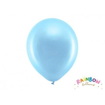 """10 stk Metallic blå balloner - str 12"""""""