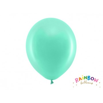 "10 stk Standard mintgrøn balloner - str 12"""