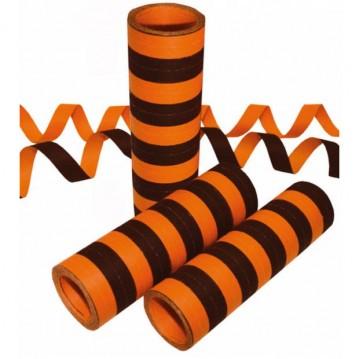1 rl. Serpentiner orange & sort brandhæmmende 4 m a 20 stk