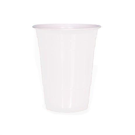 65 stk Ølglas 50cl - hvide ping pong glas