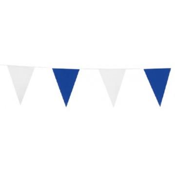 6 m. Vimpler blå & hvide - ind og udendørs