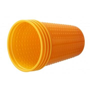40 stk Bæger orange - gul plastglas 21cl