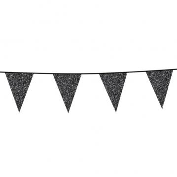 6 m. Vimpler med glitter sorte flag