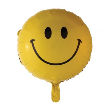 "Smiley folieballoner 18"""