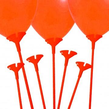 10 stk. Ballonpinde 40 cm - Rød