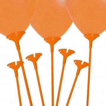 10 stk. Ballonpinde 40 cm - Orange