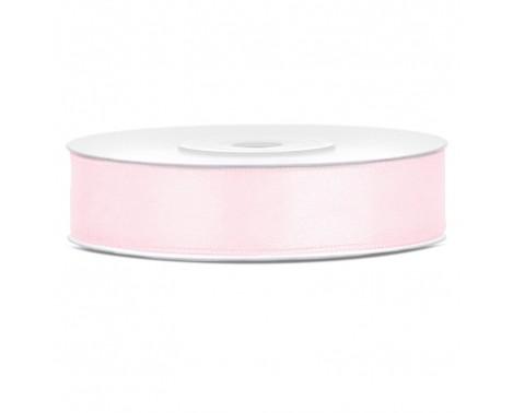 Satinbånd 12mm x 25m Lys Rosa - Glat silkelook