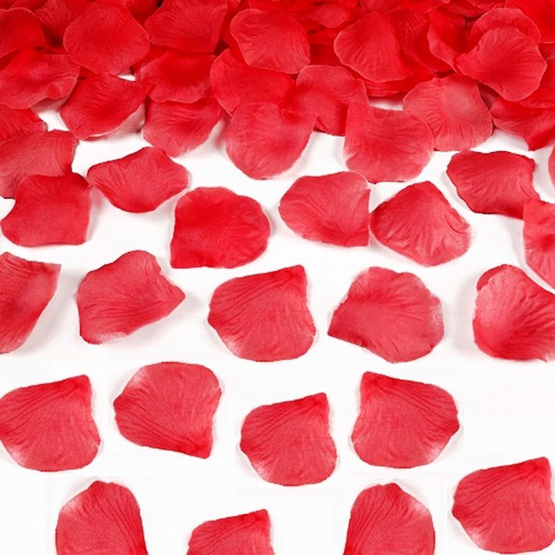 Rosenblade 100 stk rød silke