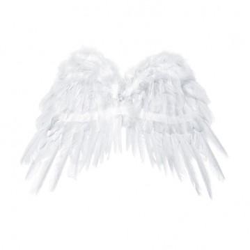 Hvid englevinger - 53 x 37 cm