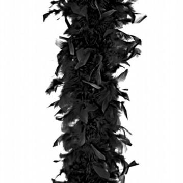 Fjerboa - Sort - 180 cm.