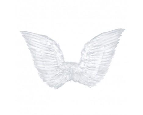 Hvid englevinger - 75 x 45 cm