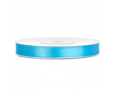 Satinbånd 6mm x 25m Himmelblå - Glat silkelook