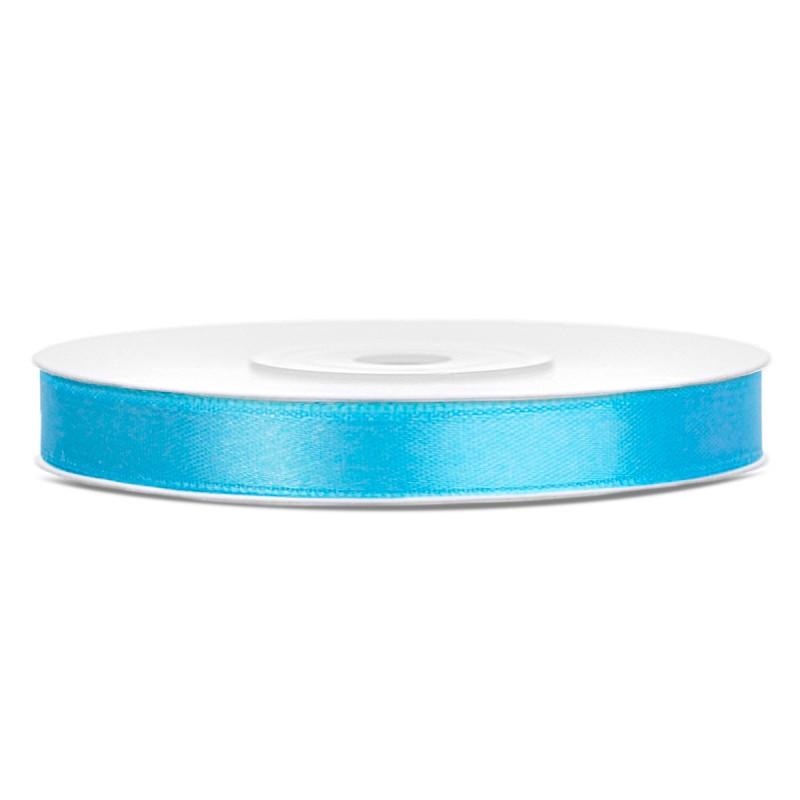 Billede af Satinbånd 6mm x 25m Himmelblå - Glat silkelook