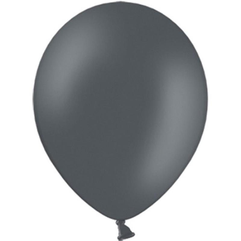 """Billede af 100 stk Standard grå balloner - str 12"""""""