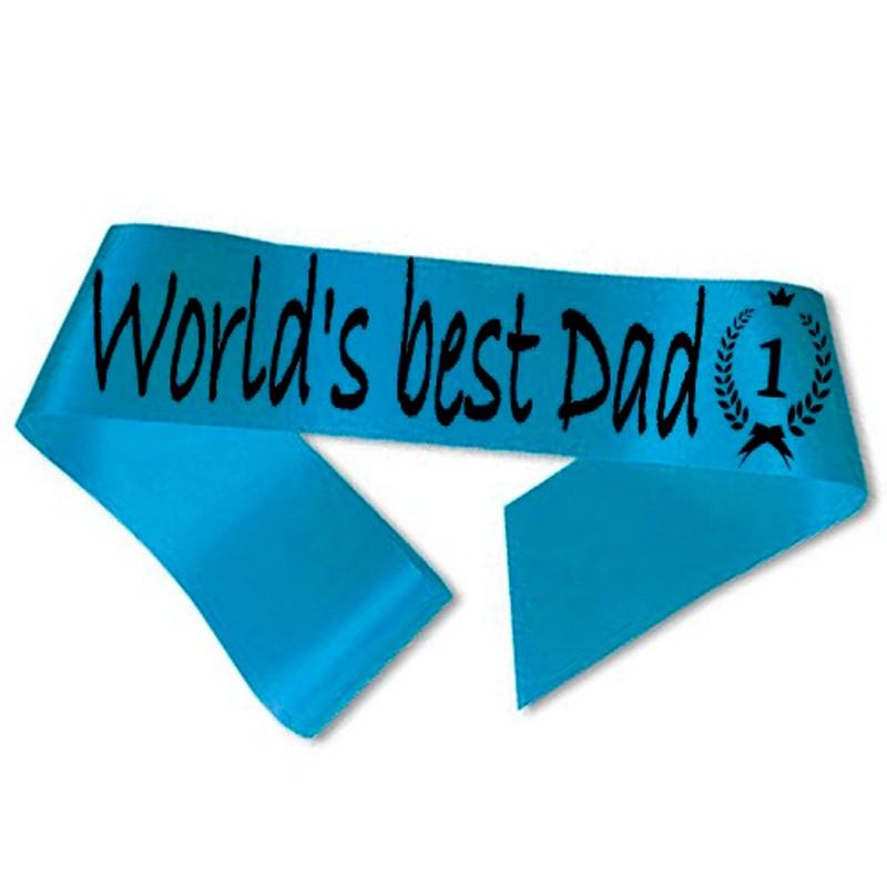 Billede af World´s best Dad Ordensbånd Aquablå