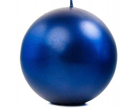 Metallic kuglelys 10 cm. Mørkeblå