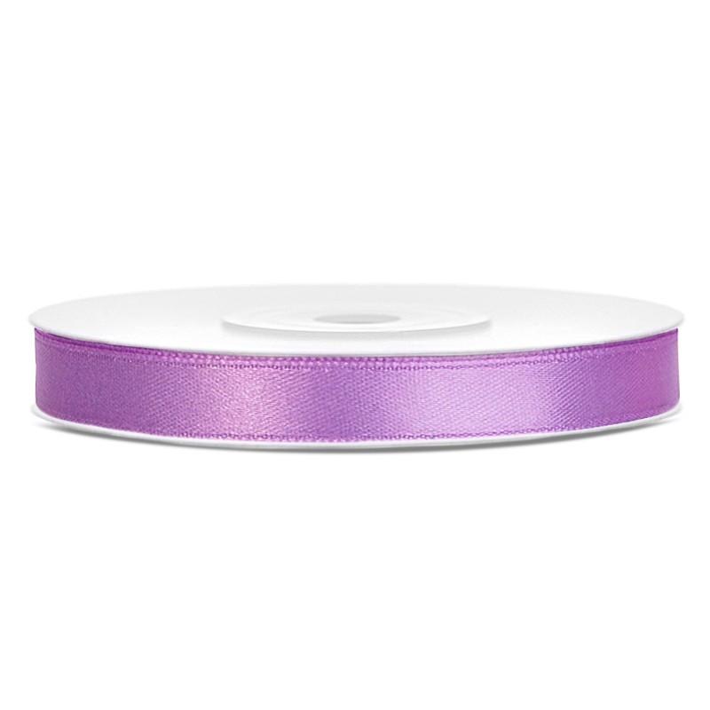 Billede af Satinbånd 6mm x 25m Lavendel - Glat silkelook
