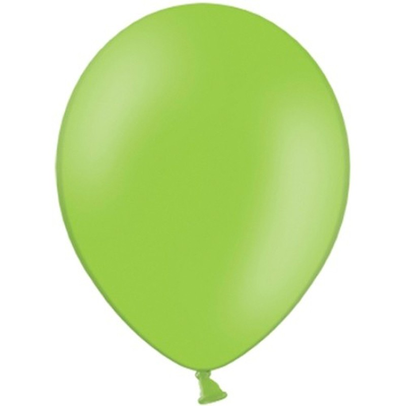 """100 stk Standard limegrøn balloner - str 10"""""""
