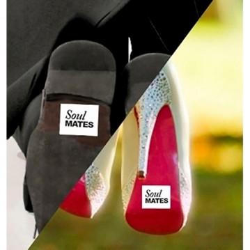 """SOUL MATES"""" Klistermærker til Gommens sko 2 stk"""