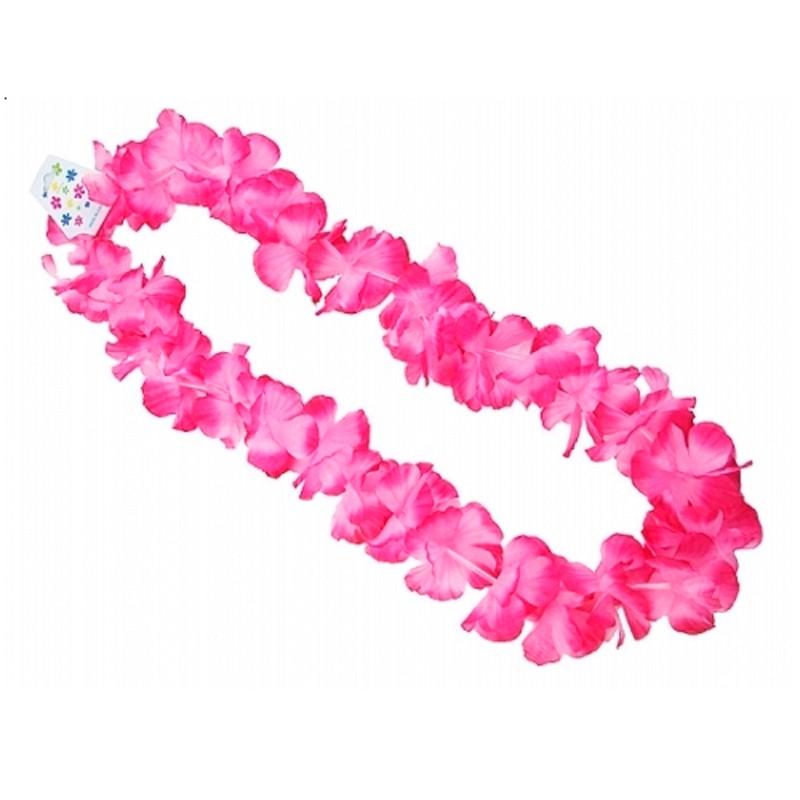 Hawaii blomster kæde Pink - 100 CM