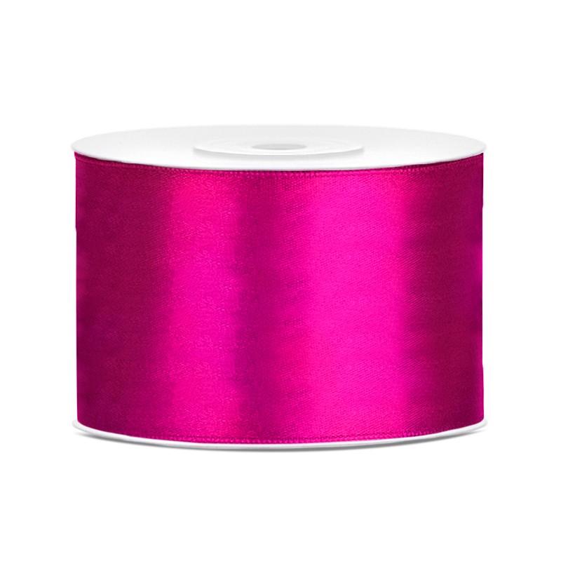 Billede af Satinbånd 50mm x 25m Fuchsia - Glat silkelook