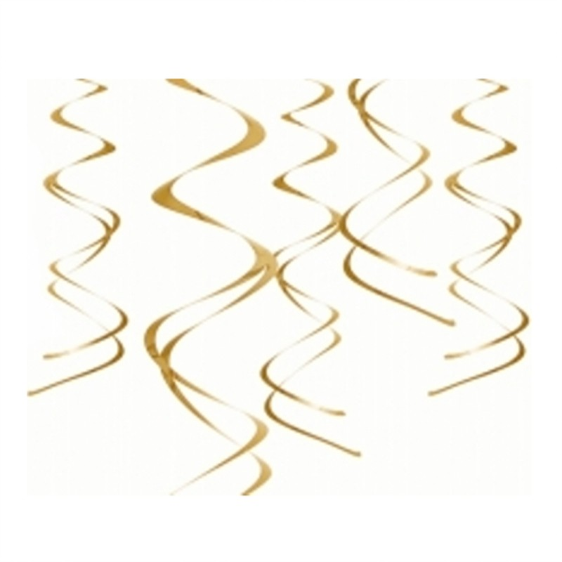 Uro - Lofts dekoration - Guld - indhold 5 stk. a 60 cm