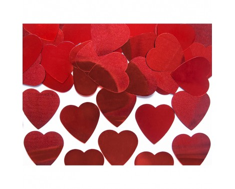 Røde Hjerter 25 mm. 12 gr. - Konfetti
