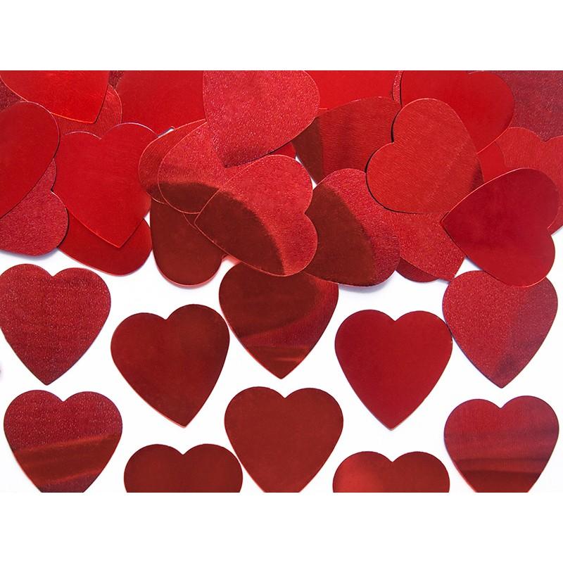 Billede af Røde Hjerter 25 mm. 12 gr. - Konfetti