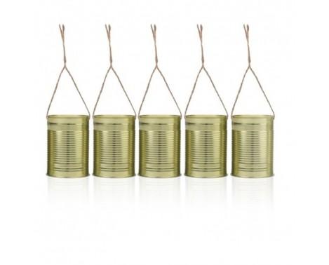 5 stk Dekorations dåser Guld
