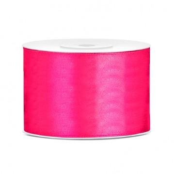 Satinbånd 50mm x 25m Mørk pink - Glat silkelook
