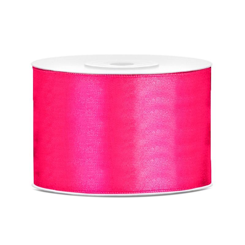 Billede af Satinbånd 50mm x 25m Mørk pink - Glat silkelook