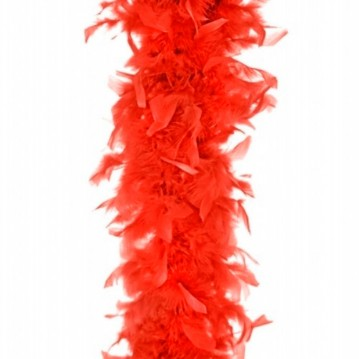 Fjerboa - Rød - 180 cm.