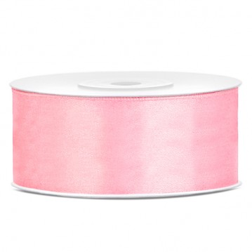 Satinbånd 25mm x 25m Lys Pink - Glat silkelook