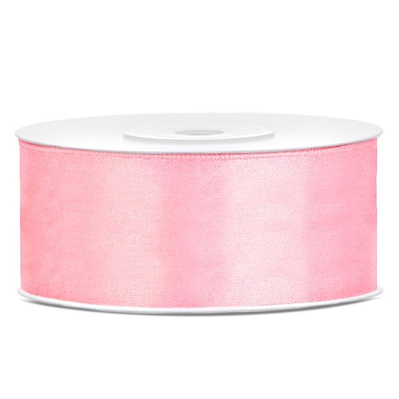 Billede af Satinbånd 25mm x 25m Lys Pink - Glat silkelook